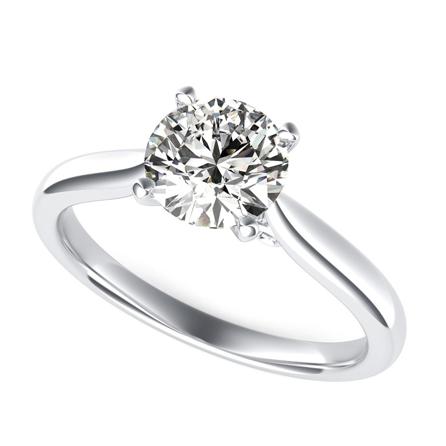 in lhuillier p solitaire rings engagement cathedral ring monique platinum