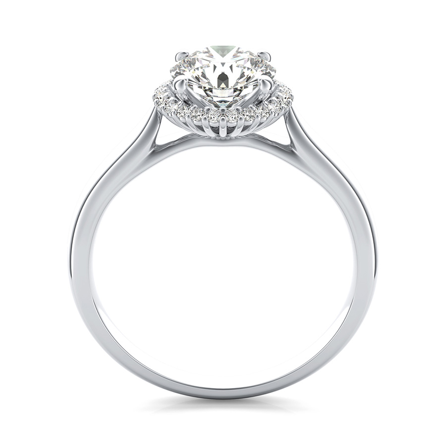 solitaire diamond p cathedral rings tapered platinum ring in engagement