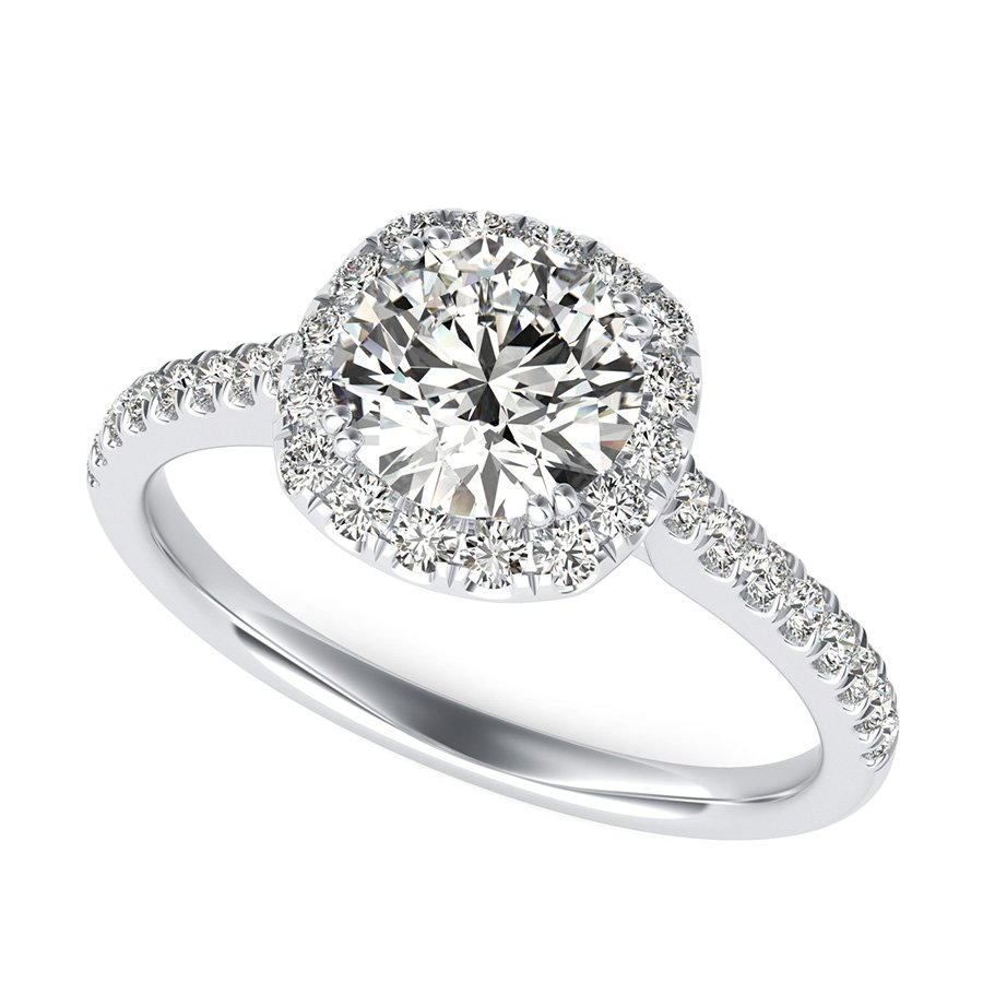 ring mount engagement round semi products diamond setting upon a rings square once wedding