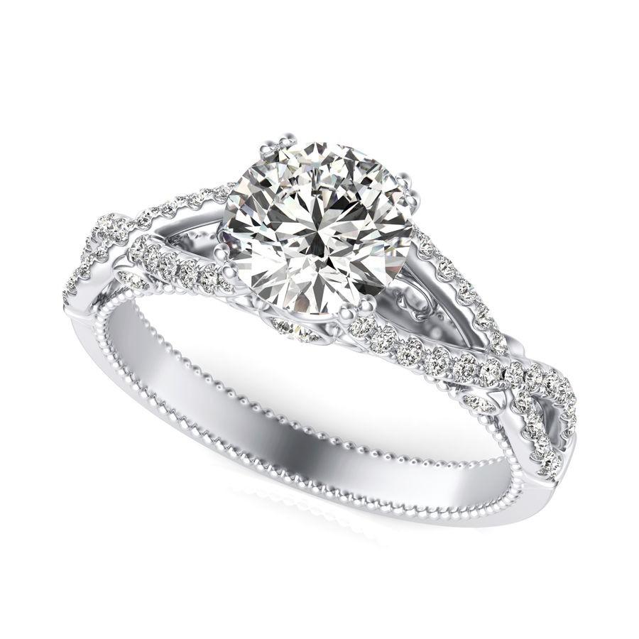 Twist Engagement Ring