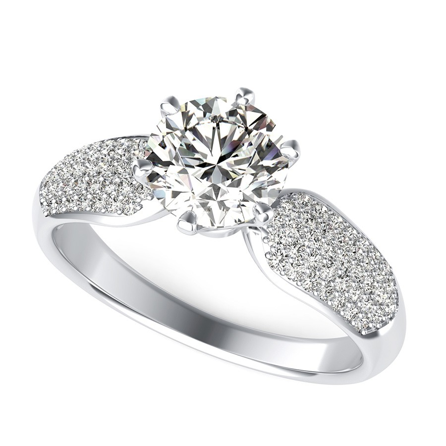 Micro-Pave Engagement Ring