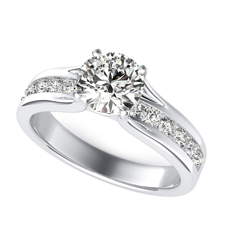 Amore Engagement Ring With Side Stones
