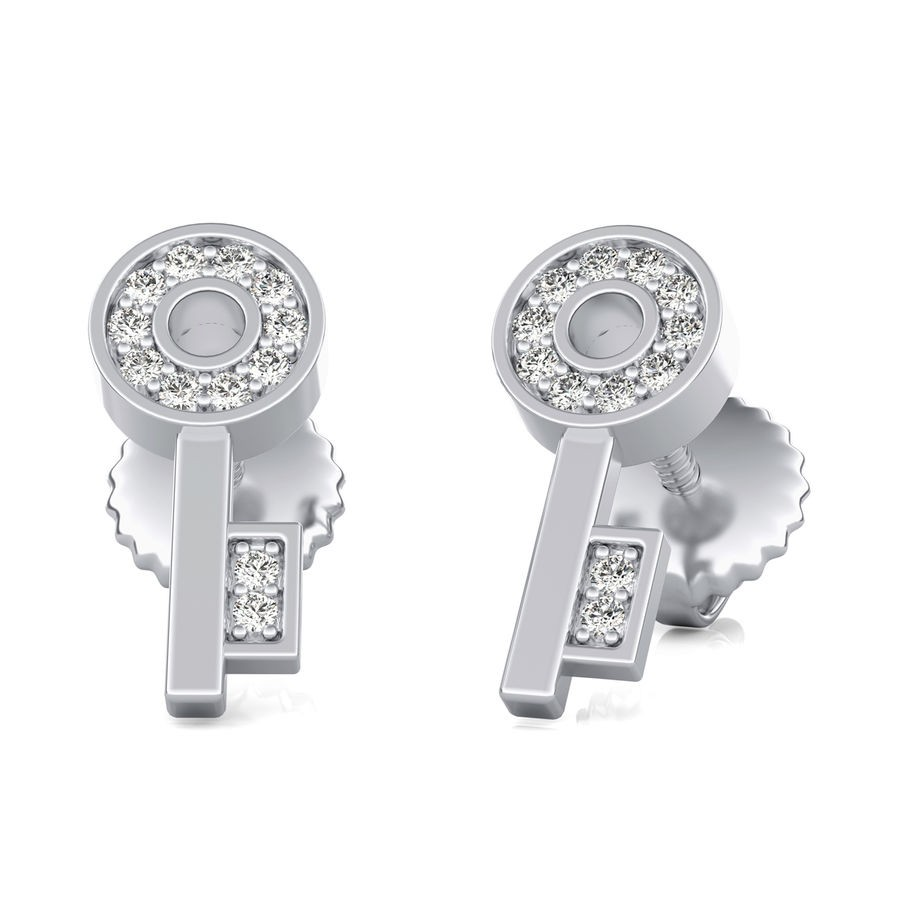 Key Stud Earrings