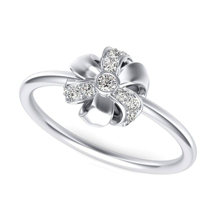 Floral Bow Tie Fashion Ring
