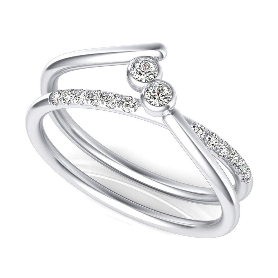 Split Shank Two Stone Fashion Ring