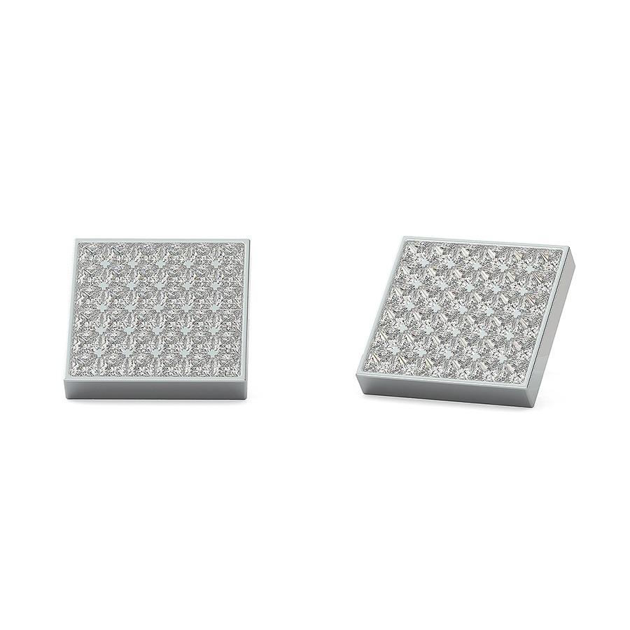 6x6 Bezel Cluster Earrings