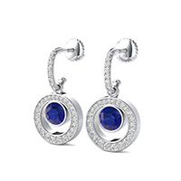 Dangling Bezel Earrings