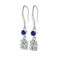 Prong Set Dangling Earrings