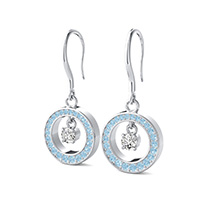 Open Circle Dangling Earrings