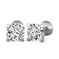 Square Prong Stud Earrings