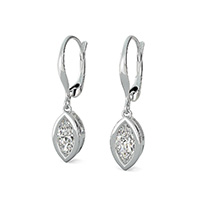 Leverback Bezel Earrings