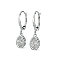 Bezel Leverback Earrings