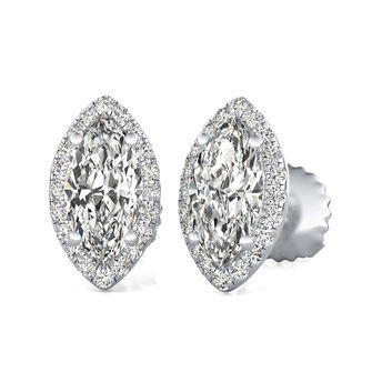 Martini Halo Stud Earrings