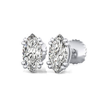 Double Wire Stud Earrings