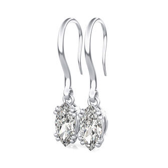 Leverback Classic Solitaire Earrings