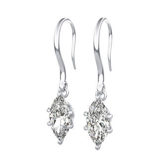 Leverback Solitaire Earrings