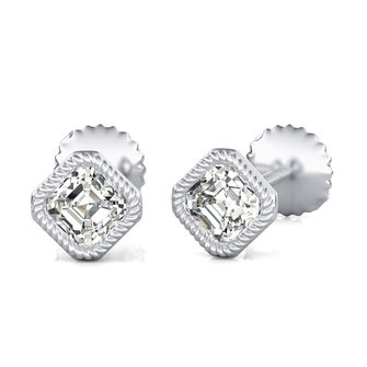 Bezel Stud Earrings