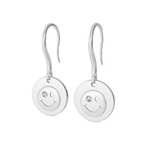 Smiley Face Coin Earrings