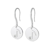 Music Note Coin Earrings
