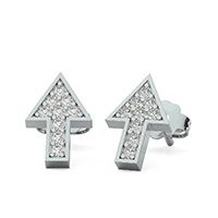 Arrow Earrings With Pave Set Stones
