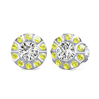 Unique Bezel Halo Earrings