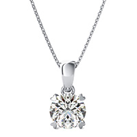 Heart Prong  Solitaire Basket Pendant