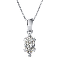 Solitaire Basket Pendant With Heart Prongs