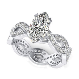 Eternity Twist Engagement Ring