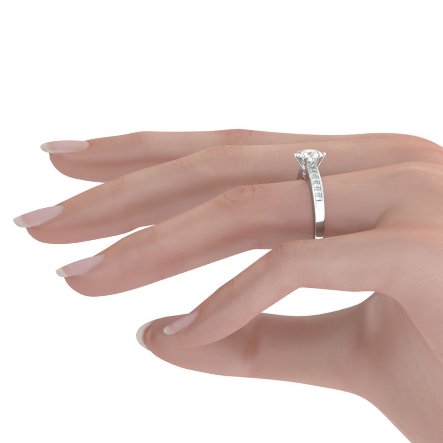 Channel Set Engagement Ring - Edwin Novel Jewelry Design