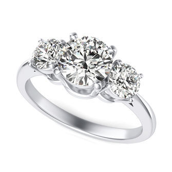 Three Stone Engagement Ring