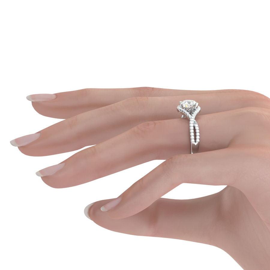 Twist Halo Engagement Ring - Edwin Novel Jewelry Design