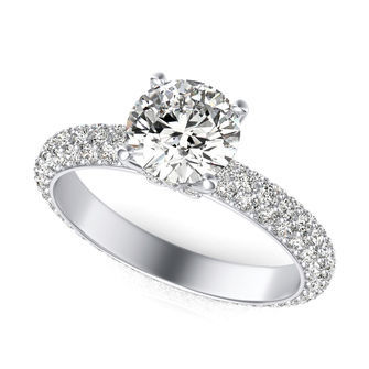 Eternity Micro Pave Engagement Ring