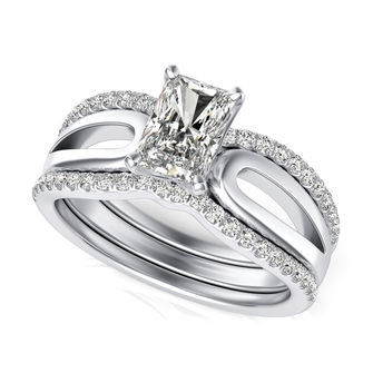 Solitaire Engagement Ring With Matching Band