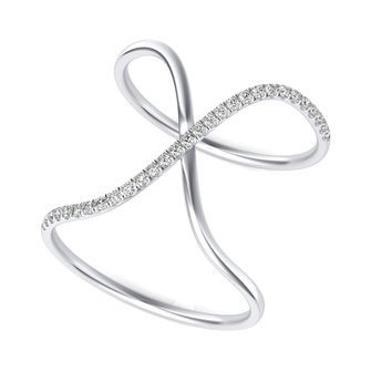 X Criss Cross Ring