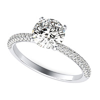 Classic Micro-Pave Half Eternity Engagement Ring