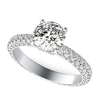 Dulce Royal Micro-Pave Eternity Engagement Ring