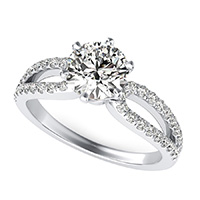 Victoria Royal Infinity Split Engagement Ring