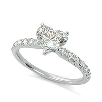 Classic Engagement Ring With Prong Set Side Stones