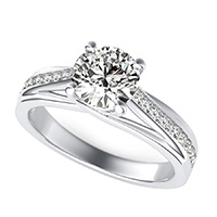 Amore Trellis Engagement Ring With Side Stones
