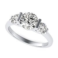 Landora Three Stone Engagement Ring