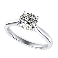 Cathedral Solitaire Engagement Ring With Scroll On The Side