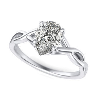 Twist Engagement Ring
