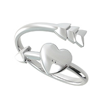 Arrow and Heart  Ring