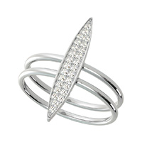 Marquise Shape Bar Ring