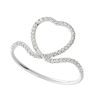 Scrolled Heart Skinny Ring