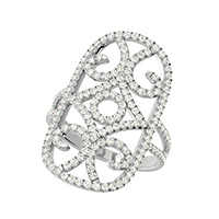 Antique Inspired Scrolled Ring