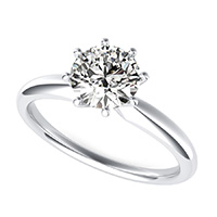 Delicate And Classic Solitaire Engagement Ring
