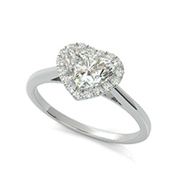 Cathedral Halo Engagement Ring