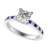 Classic Engagement Ring With Channel Set Side Stones