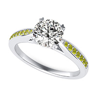Cathedral Engagement Ring With Side Stones